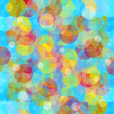 Colored circles abstract geometric background vector illustration Stock Images