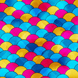 Colored circles abstract geometric background vector illustration Royalty Free Stock Images