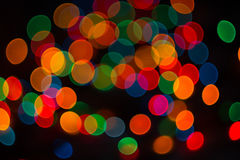 Colored circles. Background of colored circles, shaped bokeh Royalty Free Stock Photos