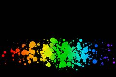 Colored circles on a black background Royalty Free Stock Photos