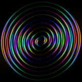 Colored circles on a black background Royalty Free Stock Photography