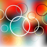 Colored circles on the blurred background eps Royalty Free Stock Image
