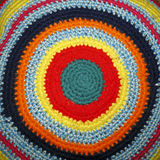 Colored circles. Concentric colored circles. Hand made fabric royalty free stock photography