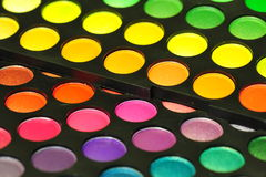 Colored circles of eye makeup Stock Photos