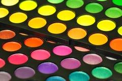 Colored circles of eye makeup Stock Photos