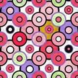 Colored circles grunge effect beautiful background Stock Photography