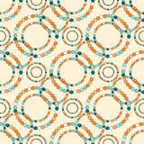 Colored circles on a light background tender seamless pattern  Royalty Free Stock Photo