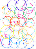 Colored circles made with paint Stock Image