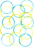 Colored circles made with paint Royalty Free Stock Photos