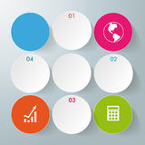 Colored Circles 4 Options. White rings with circles on the grey background. Eps 10 file Royalty Free Illustration