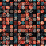 Colored circles and polygons. abstract geometric background. vector illustration Royalty Free Stock Image