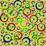Colored circles and rings, abstract background.  Artwork for cre. Ative design, art and entertainment Stock Photo