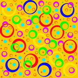 Colored circles and rings, abstract background.  Artwork for cre. Ative design, art and entertainment Stock Photography