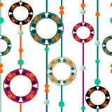 Colored circles seamless pattern retro background Royalty Free Stock Photography