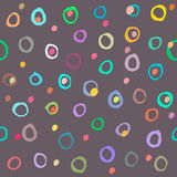 Colored circles seamless pattern. Vector Royalty Free Stock Photography