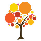 Colored circles tree Stock Photography