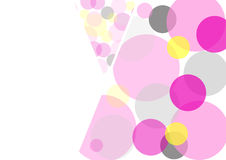 Colored circles on a white background. A mosaic of transparent colored circles on a white background, card Stock Image