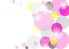 Colored circles on a white background. Transparent colored circles on a white background, card Royalty Free Stock Images