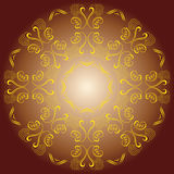 Colored circular ornament Royalty Free Stock Photography