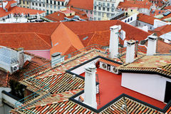 Colored City Roofs Stock Images