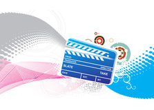 Colored clapper board Stock Photo