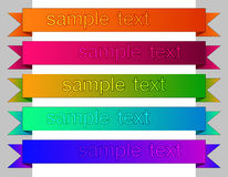 Colored clasic ribbons elements for web. Stock Images