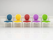 Colored classic chair Royalty Free Stock Images