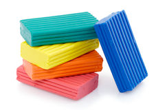 Colored clay Royalty Free Stock Image