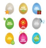 Colored clean and creative nature easter eggs Royalty Free Stock Photography