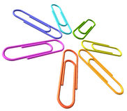 Colored clip set diagonal closeup view Royalty Free Stock Image