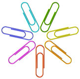 Colored clip set Stock Images