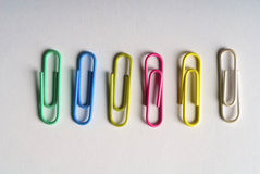 Colored clips Stock Images