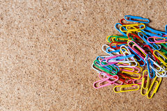 Colored clips Stock Image