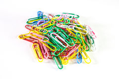The colored clips. Stock Images