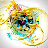 Colored  clock. Abstract layout with clock and colors Stock Images