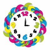 Colored Clock Stock Photo