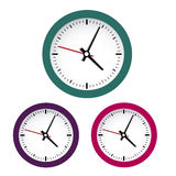 Colored clocks Stock Images