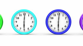 Colored Clocks Stock Photo