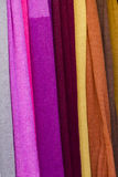 Colored cloth Stock Photography