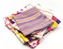Colored cloth napkins Stock Photography