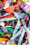 Colored cloth strips Stock Photos