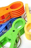 Colored Clothes pegs Royalty Free Stock Photography