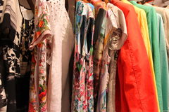 Womens clothing. Image of womens clothes in a clothing store Royalty Free Stock Photography