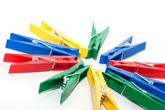 Colored clothespin Stock Photography