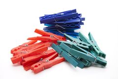 Colored clothespins Royalty Free Stock Photos