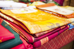 Colored cloths Stock Photos
