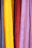 Colored cloths and silks from Morocco Royalty Free Stock Photo