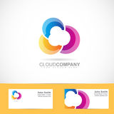 Colored cloud design Stock Photography
