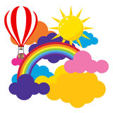 Colored clouds. Flat design, illustration vector illustration