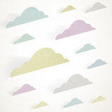 Colored clouds Royalty Free Stock Photo